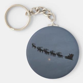 Santa Reindeer Silhouette Key Chains