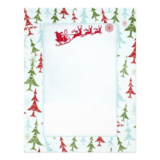 Santa reindeers xmas tree letter santa letterhead zazzle santa reindeers xmas tree letter santa letterhead spiritdancerdesigns Choice Image