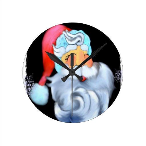 Santa Reloj De Pared