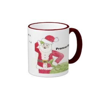 Santa, reno observa, porqué Santa no utiliza un w… Taza De Dos Colores