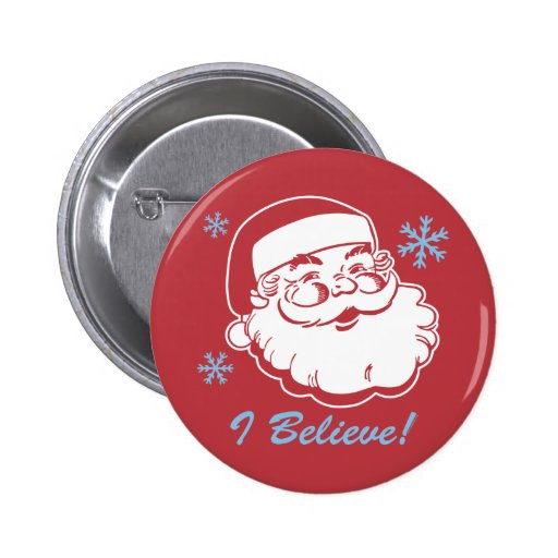 Santa retro cree pin