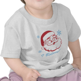 Santa retro cree camisetas