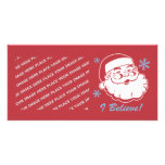 Santa retro cree tarjetas con fotos personalizadas