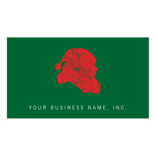 Santa (Retro Letterpress Style) Double-Sided Standard Business Cards (Pack Of 100)