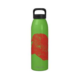 Santa Retro Letterpress Style Drinking Bottle