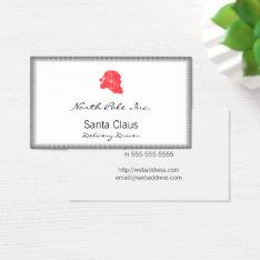 Santa Retro Silhouette Business Card at Zazzle