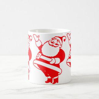 Santa retro taza de café