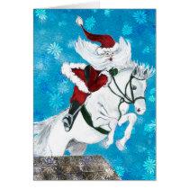 Santa Ride's a Horse -card Card