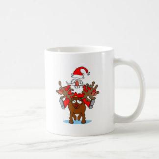 Santa Riding Rudohlf Coffee Mugs