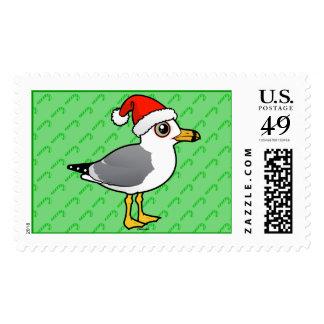 Santa Ring-billed Gull Postage Stamp