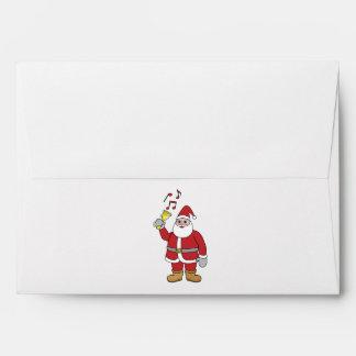 Santa Ringing Christmas Bell Envelopes