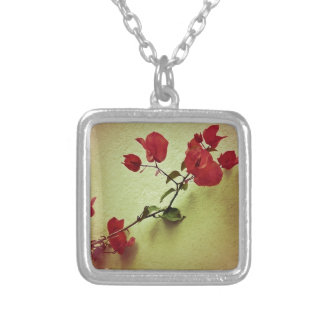 Santa Rita Flower in Warm Colors Wall Photo Silver Plated Necklace