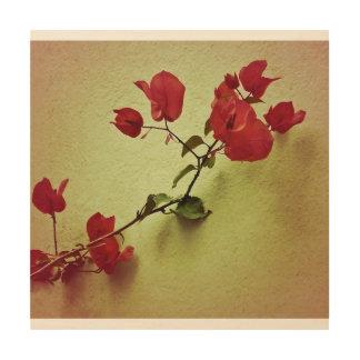 Santa Rita Flower in Warm Colors Wall Photo Wood Wall Decor