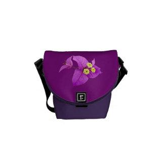 Santa Rita o flor de la púrpura del Bougainvillea Bolsas Messenger