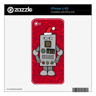 Santa Robot Decal For The iPhone 4