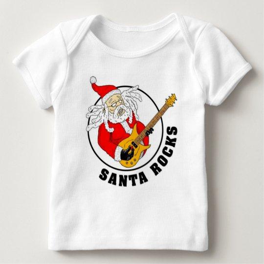 Santa Rocks Baby Clothes Baby T-Shirt