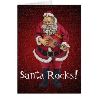 Santa Rocks Christmas Card