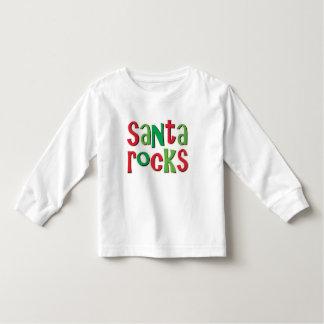 Santa Rocks Red and Green Christmas Toddler T-shirt