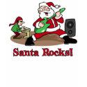 Santa Rocks t-shirt shirt