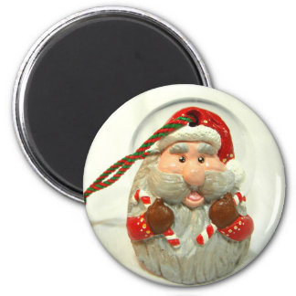 Santa rojo imán redondo 5 cm