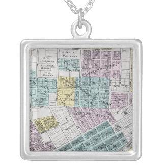 Santa Rosa, California 5 Square Pendant Necklace