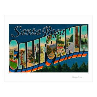 Santa Rosa, California - Large Letter Scenes Postcard