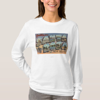 Santa Rosa, New Mexico - Large Letter Scenes T-Shirt