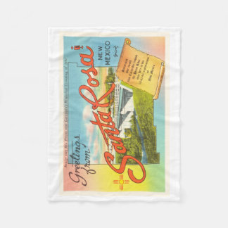 Santa Rosa New Mexico NM Vintage Travel Souvenir Fleece Blanket