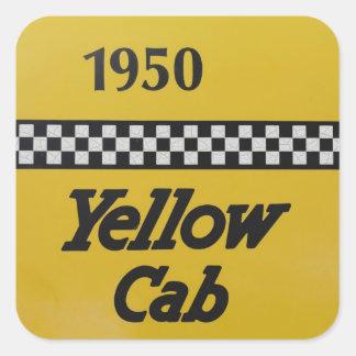 Santa Rosa, New Mexico,United States. Old Yello Square Sticker