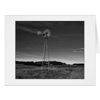 """ Santa Rosa Plateau Windmill "" Black and White Card"