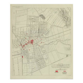 Santa Rosa, portions destroyed by earthquake Poster