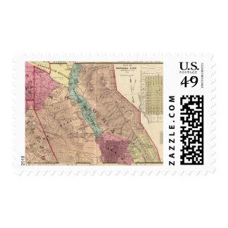 Santa Rosa, Vallejo, and Sonoma Townships Postage