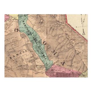 Santa Rosa, Vallejo, and Sonoma Townships Postcard