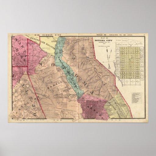 Santa Rosa, Vallejo, y los municipios de Sonoma Posters