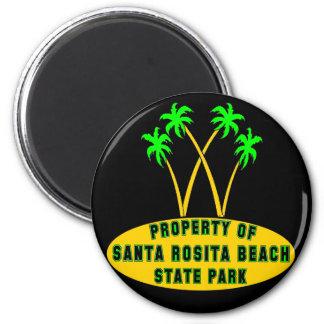 Santa Rosita Beach State Park 2 Inch Round Magnet