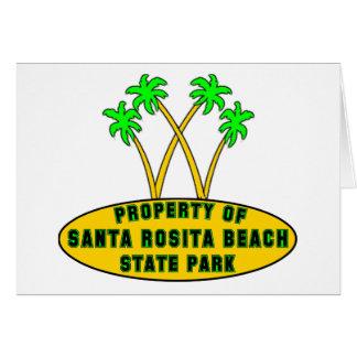 Santa Rosita Beach State Park Greeting Card
