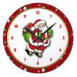 Santa Round Wall Clock