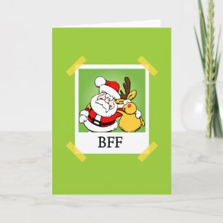 Santa & Rudolph BFF's card
