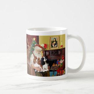 Santa s 2 Cavalier Kings Charles Coffee Mugs
