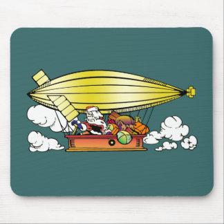 Santa s Blimp Mouse Pad