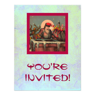 Santa s Chimney Invitation