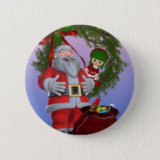 Santa`s Christmas Button