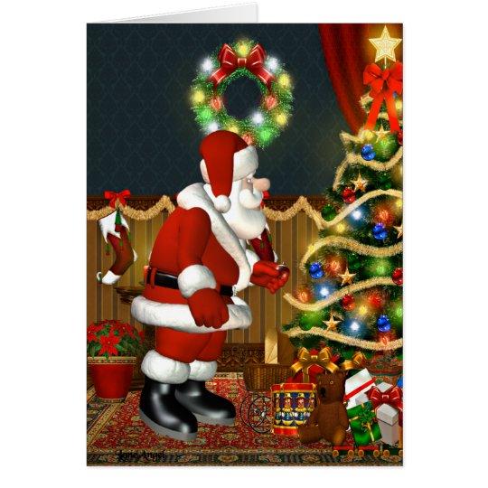 Santa`s Christmas Eve Visit Card