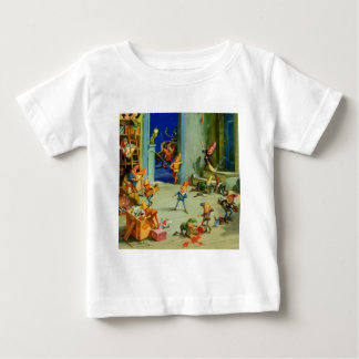 Santa 's Elves Working in his North Pole Workshop Baby T-Shirt