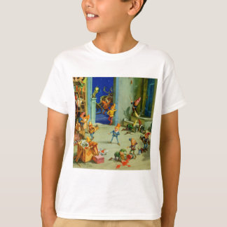 Santa 's Elves Working in his North Pole Workshop T-Shirt