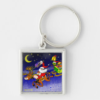 Santa s Gift Delivery with a Slingshot Key Chains