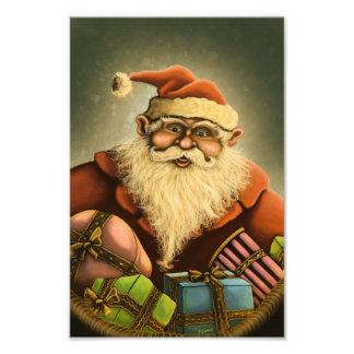 santa s gifts holiday photo print