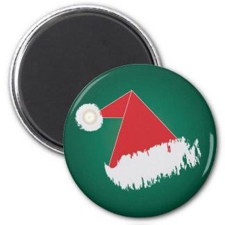 Santa 's hat 2 inch round magnet