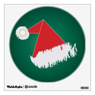 Santa 's hat wall decal