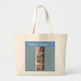 Santa´s helper large tote bag